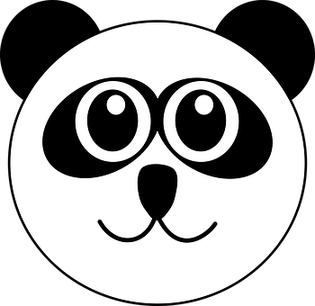 Panda, Head, Cute, Cartoon, Bear, Animal, Wildlife