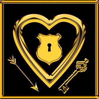 Emotions, Love, Heart, Symbol, Arrow, Castle, Key, Amor