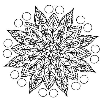 Drawing, Pencil, Pattern, Coloring Page, Mandala