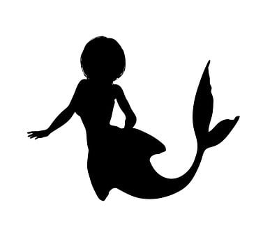 Mermaid, Silhouette, Fantasy, Girl, Tail, Fish, Nature