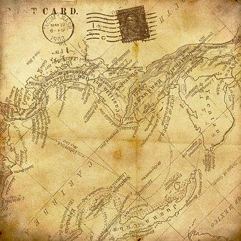 Vintage, Map, Background, Paper, Newspaper, Post Card