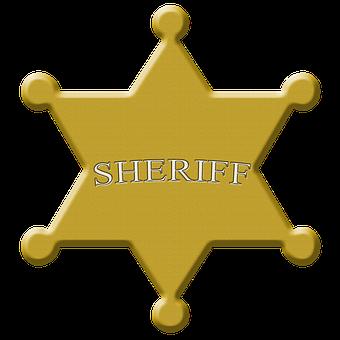 Star, Sheriff, Sheriffstern, Wild West, Symbol, Police
