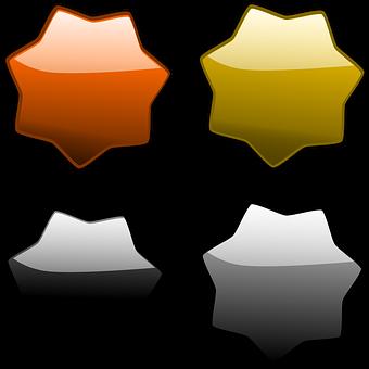 Stars, Badge, Sticker, Glossy, Glow, Web 2 0, Gold