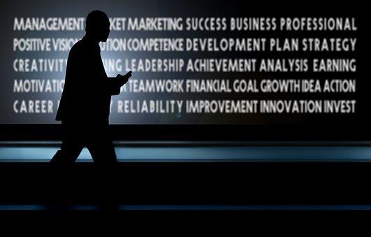 Businessman, Mobile Phone, Platform, Success, Business