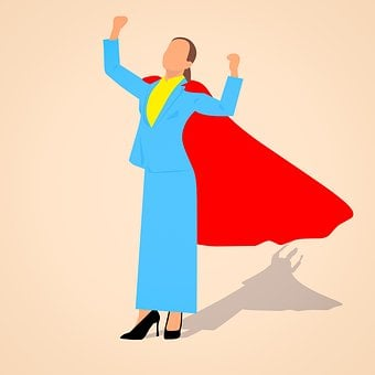 Business, Power, Success, Achievement Businesswoman
