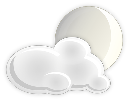 Cloudiness, Moon, Night, Bet Ricon, Clouds, Icon, Foggy