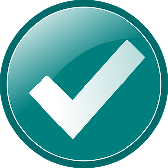 Checkmark, Tick, Check, Yes, Mark, Choice, Teal, Vote