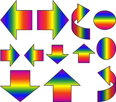 Arrows, Circle, Sign, Symbol, 3d, Design, Red, Orange