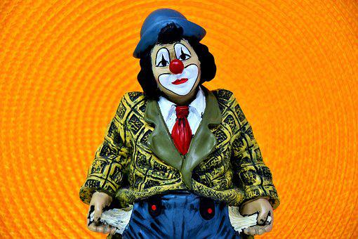 Clown, Circus Clown, Sad, Arm, Face, Figure