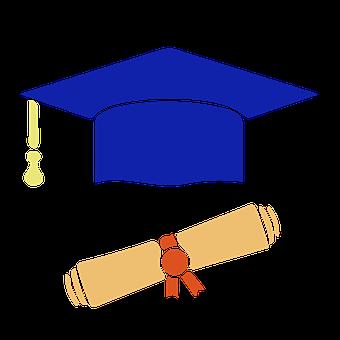 Computer Icon, Graduation, Diploma, Education, Studying