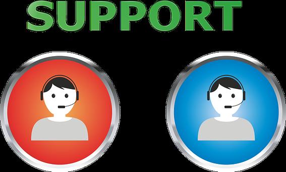Support, Help, Hotline, Headset, Call Center