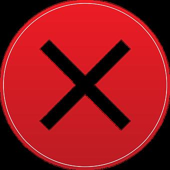 X, Exit, Button, Icon, Symbol, Vector, Illustration