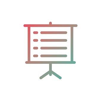 Presentation, Icon, Business, Design, Graph, Symbol