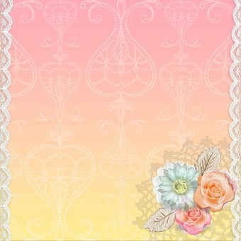 Background, Swirl, Pink, Lace, Floral, Rose, Frame