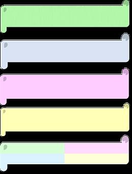 Pastel, 3d, Scrolls, Banners, Labels, Headlines