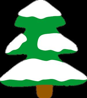 Snowy Christmas Tree, Christmas Tree, Holidays