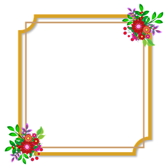 Photo Frame, Flowers, Wedding, Love, Happiness, Style