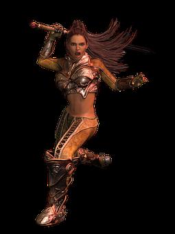 Woman, Fighter, Amazone, Female, Pose, Beauty, Fantasy
