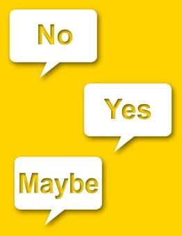 Yes, No, Maybe, Yellow, Indecisive, Balloon, Speech