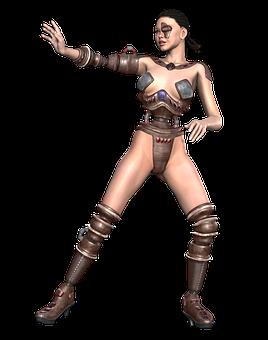 Girl, Hair, Braided, Cyberpunk, Eyes, Pose, Legs, 3d