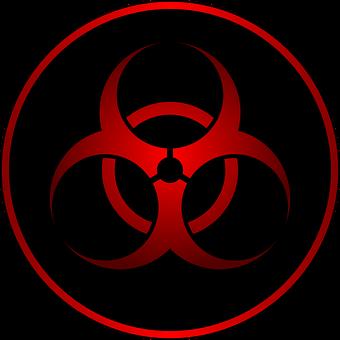 Biohazard, Red, Sign, Virus, Warning, Bacterial, Symbol