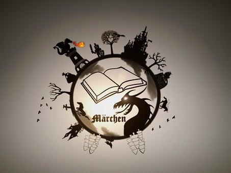 Fairy Tales, Dragon, Castle, Princess, Knight, Book