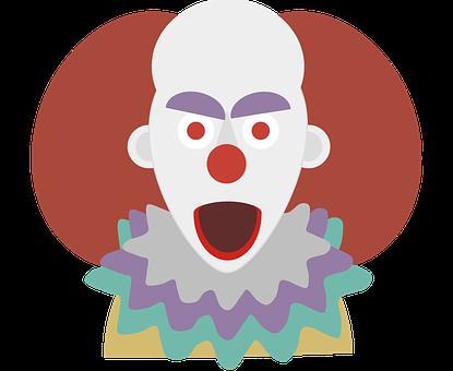 Clown, Terror, Halloween, Chilling, Look, Monster