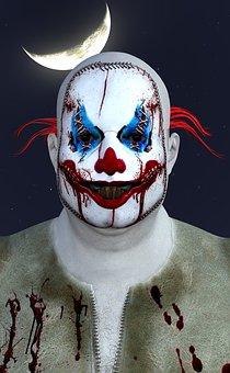 Clown, Horror, Halloween, Crazy, Circus, Fear
