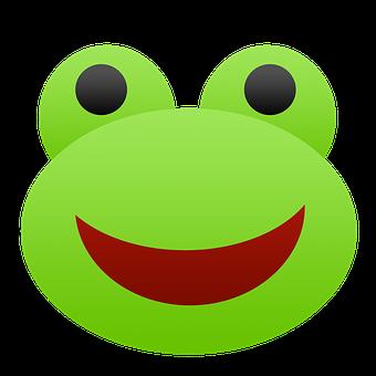 Frog, Emoji, Green, Red, Black, Cartoon, Cute, Animal