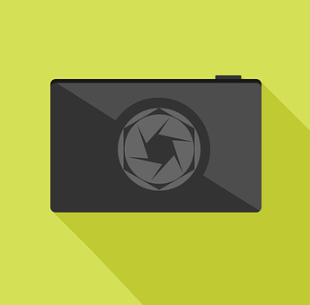 Camera, Flat Vector, Flat Style, Camera Icon, Device
