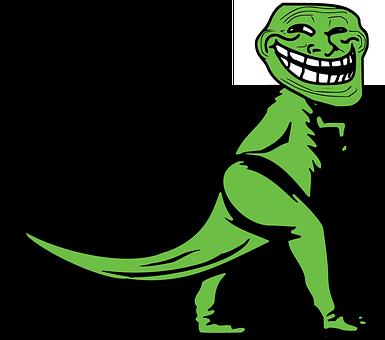 Dino, Dinosaur, Mozilla, Troll, Green, Reptile, Goblin