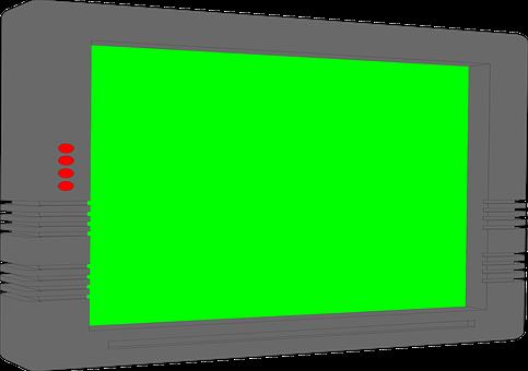 Screen, Green, Svg, Cartoon, Drawing, Technology