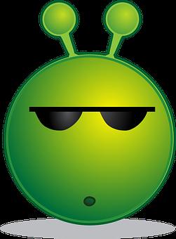 Alien, Smiley, Huh, Emotion, Emoticon, Emoji, Cartoon