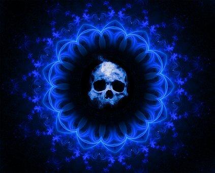 Skull, Gothic, Dark, Fantasy, Death, Halloween, Horror