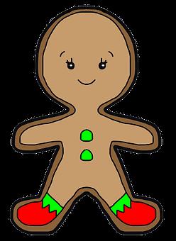 Cookie, Ginger, Christmas, Celebration