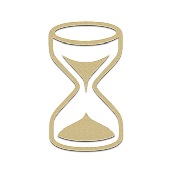 Hourglass, Clock, Icon, Sand, Gold, Element, Glass