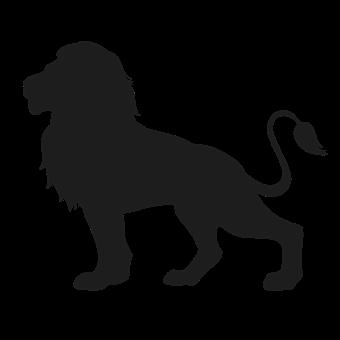 Lion - Feline, Cut Out, Silhouette, Vector, Animal Head