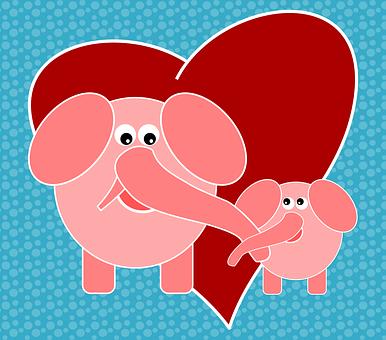 Elephants, Animals, Jungle, Nature, Love, Feeling