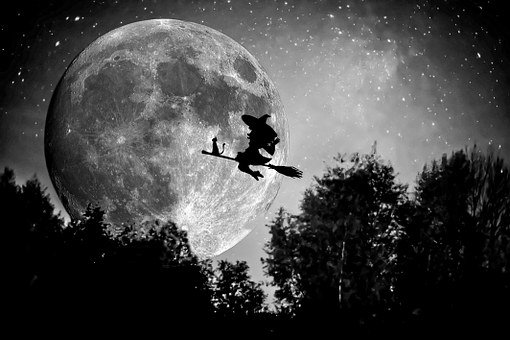 Witch, Broom, Halloween, Magic, Hat, Black, October