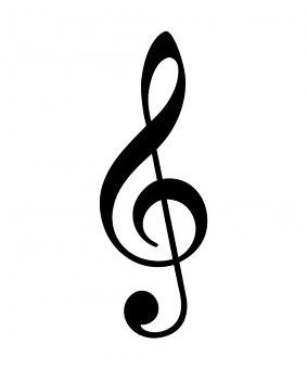 Treble Cleft, Black, Cleft, Note, Sign, Symbol, Treble