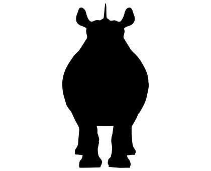 Rhino, Animal, Wild, Icon, Design, Wildlife, Zoo
