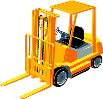 Fork Lift, Construction, Heavy, Equipment, Carry