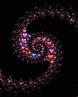 Emoji, Hearts, Spiral, Love, Affection, Galaxy, Cosmic