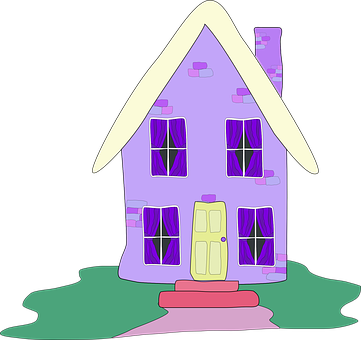 Home, Exterior, Purple, Dwelling, Lilac, Cottage, House