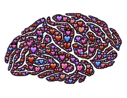 Brain, Hearts, Love, Emoji, Icons, Obsession, Mind