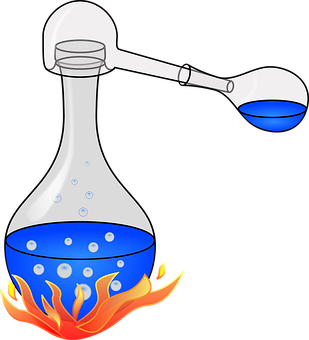 Glass, Fire, Flask, Bubbles, Water, Gas, Experiment