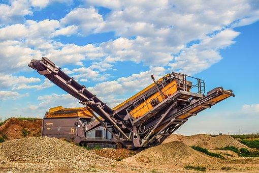 Machine, Industry, Heavy, Equipment, Sky, Clouds, Mine