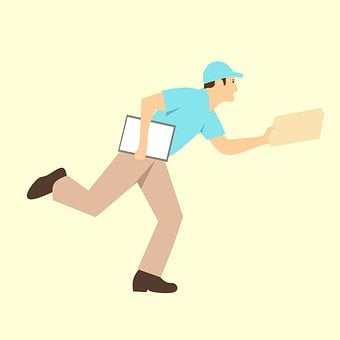 Courier, Delivery, Rush, Cartoon Character, Idea