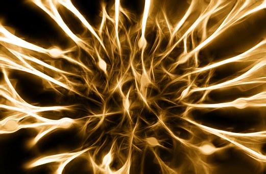 Nerves, Cells, Dendrites Sepia, Excitation, Brain, Gold