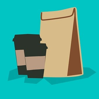 Coffee - Drink, Template, Packaging, Cut Out